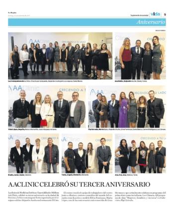 tercer aniversario aaclinic